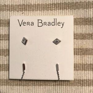 Vera Bradley Silver Stud and Ear Jacket